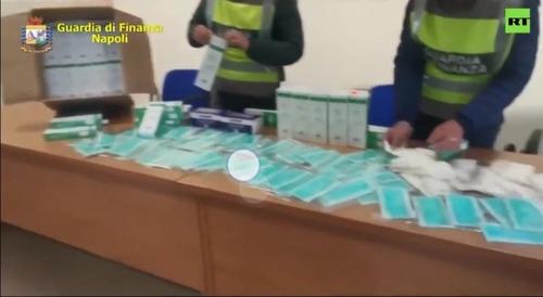 【速報】イタリア警察が巨大なマスク・ブラックマーケットを摘発