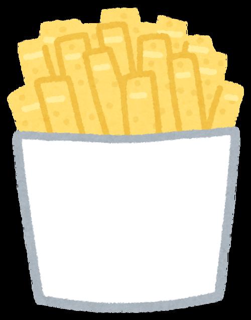 フライドポテトやポテチを食べると寿命が縮む