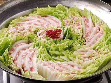 材料が豚肉と白菜しかかないが鍋が食べたい