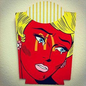 世間への反感から生まれたマクドナルドのポテトの箱に描かれたポップアート