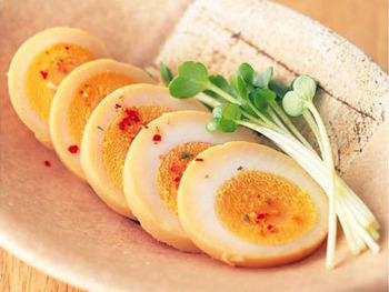 ゆで卵でご飯は食えるか