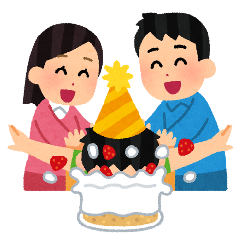 party_birthdaycake_kao_tsukkomu