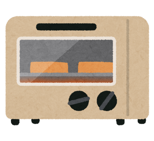 何万円もするオーブントースターを買ったので元を取るため食パンばっかり食べてる