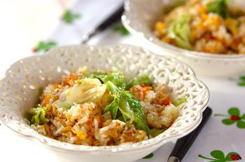 チャーハンやピラフなど、ご飯料理の具に合う野菜
