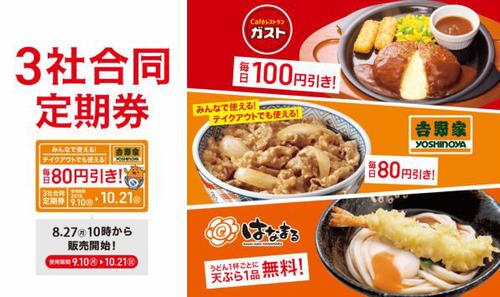 吉野家の定期券てめちゃくちゃお得だな!!毎日牛丼300円で食えるんだぜ?