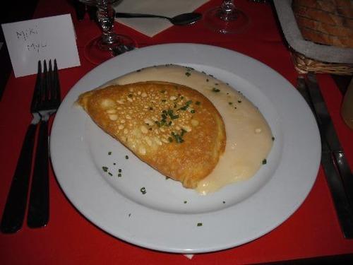 【昼飯】モンサンミッシェルのオムレツ作ってみたよー