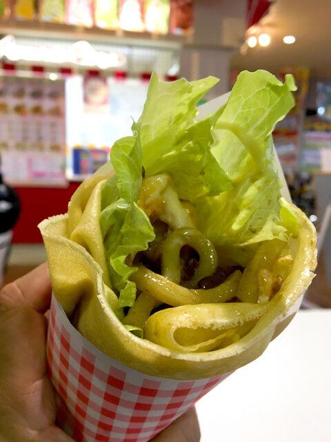 うどん入りクレープが香川県で人気に