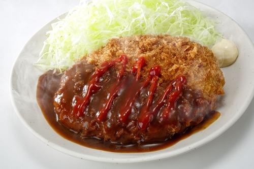 Sガストで、大メンチカツ定食 ご飯・味噌汁付』(590円・税込)