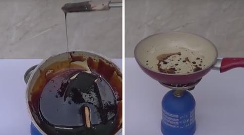 「コカ・コーラ」と「コカ・コーラゼロ」を煮詰める動画 明らかな差がでる