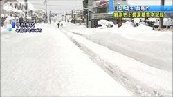 【悲報】大雪のせいで山梨のぶどう農家に大きな被害