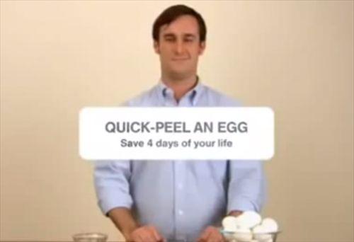 なにこれ便利 ゆでたまごの殻を10秒でむく方法