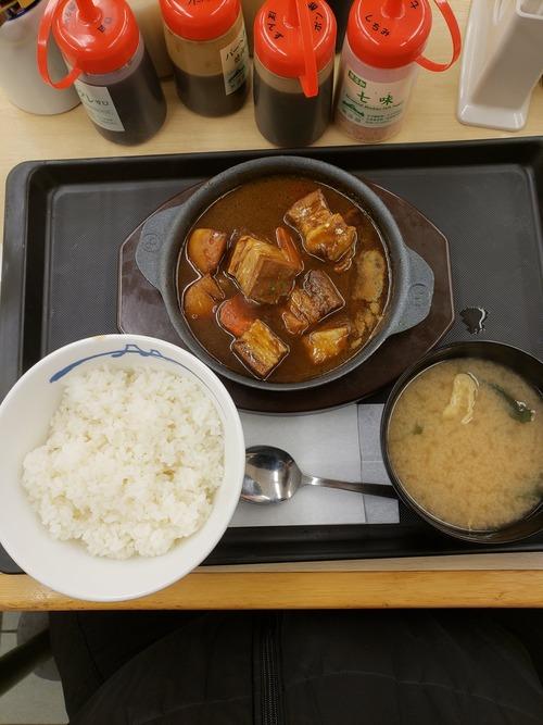 【画像】松屋のビーフシチュー定食が冗談抜きで美味い件
