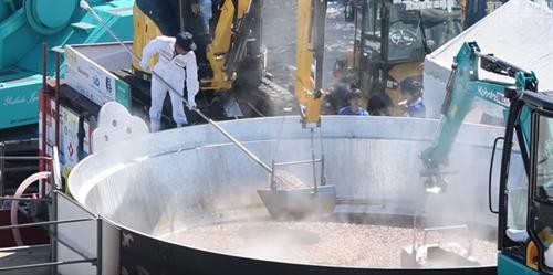 3代目鍋太郎始動 芋煮を最多提供でギネス記録、山形 牛肉1.2トン里芋3トン