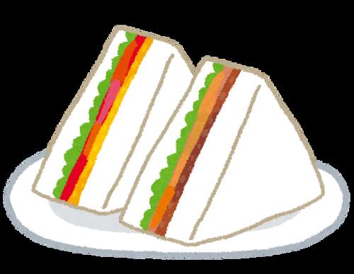 【悲報】スーパーマーケットが食べづらいサンドイッチ(180円)を販売してしまう