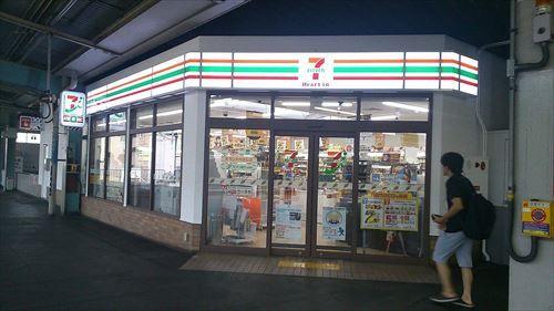 JR鶴橋駅_ホーム構内唯一の売店_セブン-イレブン_R