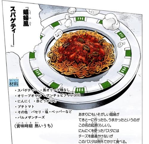 ジョジョに出てきたスパゲティー作ったwwwwwwwww