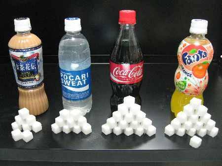 コカコーラ500mlを一本飲むだけで1日の推奨砂糖摂取推奨限を超えるという事実