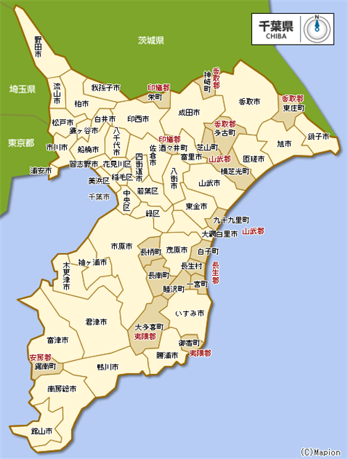 千葉県とかいう意外と産業スペック高い県