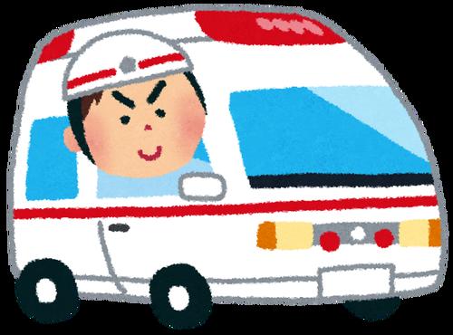 忙しすぎて救急車でコンビニにジュースを買いに寄るけど許してね