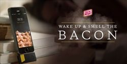 ベーコンの焼ける匂いで起こす目覚ましアプリが登場