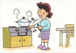 火事が怖くて料理できない(´;ω;`)