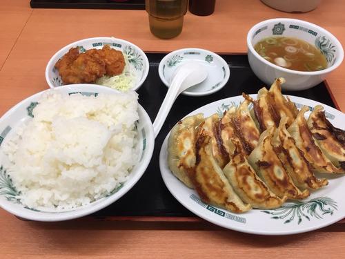 日高屋、650円でW餃子定食が食える
