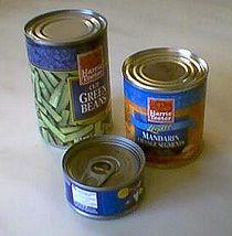 缶切りなしで缶詰を開ける方法