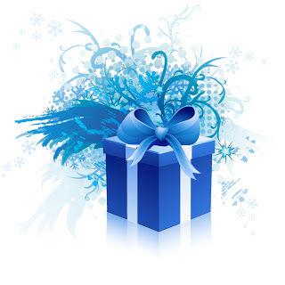 プレゼント箱とタグ snowflake gift box & tags イラスト素材1
