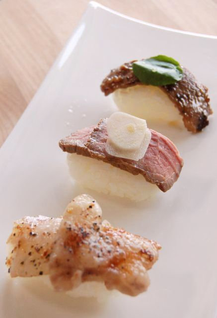 ハンバーグにローストビーフ・・・最近の寿司はよくわからない方向に進化してる