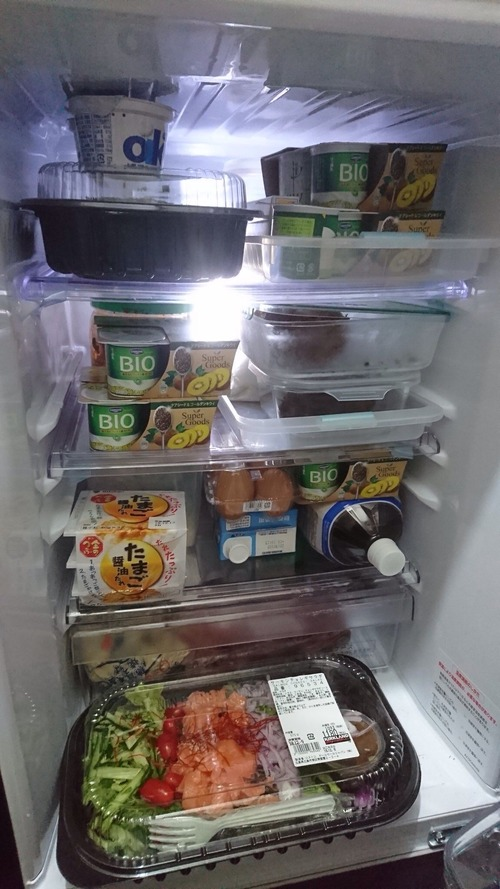 【画像】ワイ一人暮らし(20)の冷蔵庫の中がこちらwwww