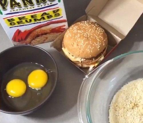 【動画】ビッグマックの丸ごとフライが美味しそう