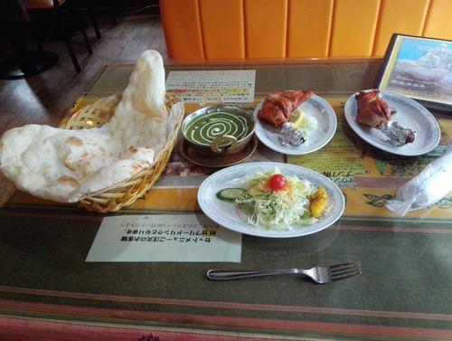 昼飯にインドカレー食っておなかいっぱいになったんだ