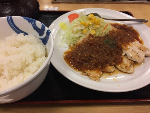 ワイ君、松屋の新定食「鶏ササミステーキ」を食べてきた!