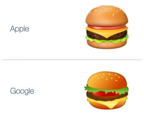 【悲報】「Googleのチーズバーガー変じゃね?」絵文字のチーズの位置を巡って全米が大論争に