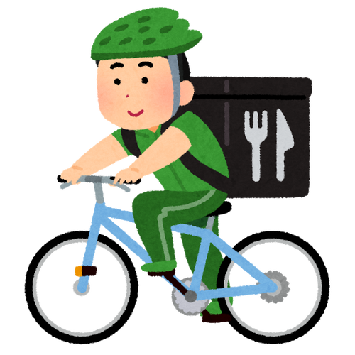「ウーバーイーツ」配達員らしき人物が首都高を自転車で走行