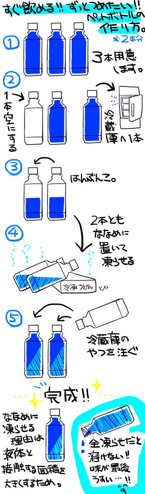 冷たいペットボトルの作り方が目から鱗で画期的だと各所で話題に
