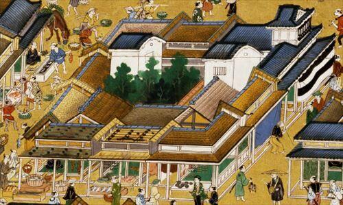 Machiya_in_Nihonbashi_in_Edo_period_R