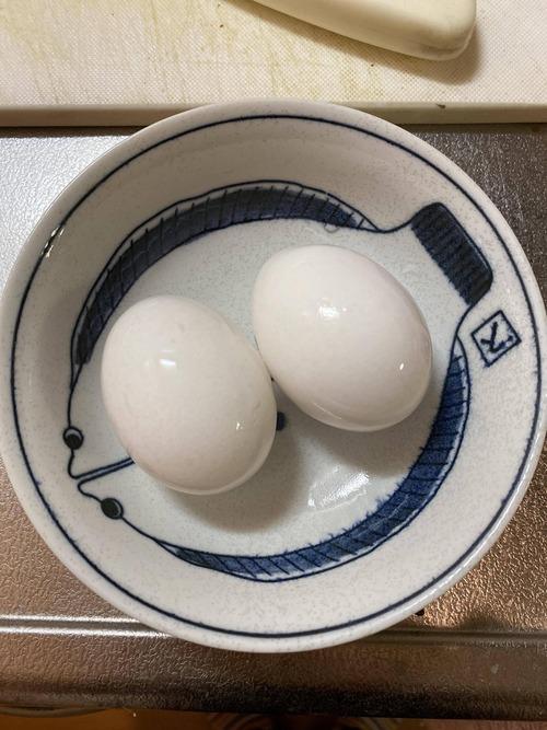 味付け半熟煮玉子作る