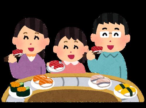回転寿司の平均皿数 男子 9.1皿 女子 5.9皿←これ
