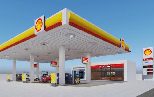 昭和シェルとピザハットが業務提携、ガソリンスタンドでピザが買えるぞ!