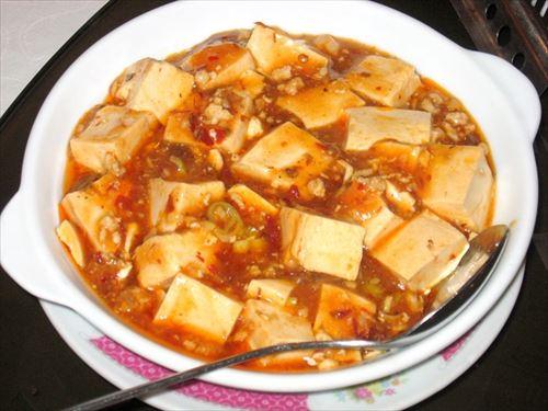 麻婆豆腐の豆腐を絹ごしに変えた結果