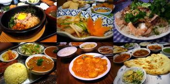 アジアの料理で美味しいのは日本料理と中国料理だけで韓国と台湾と北朝鮮とタイとシンガポールのは不味い