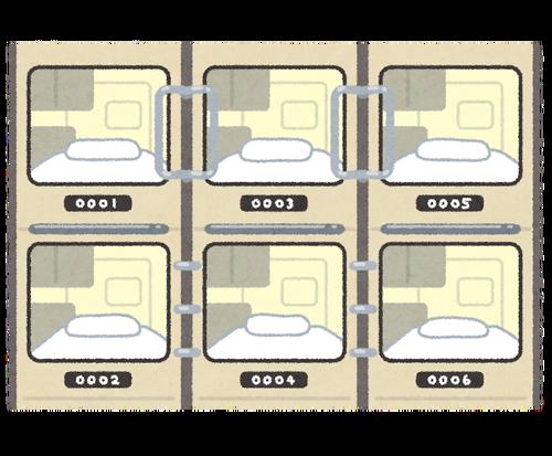 ワイ新卒、家が遠くて週の半分はカプセルホテルに泊まる