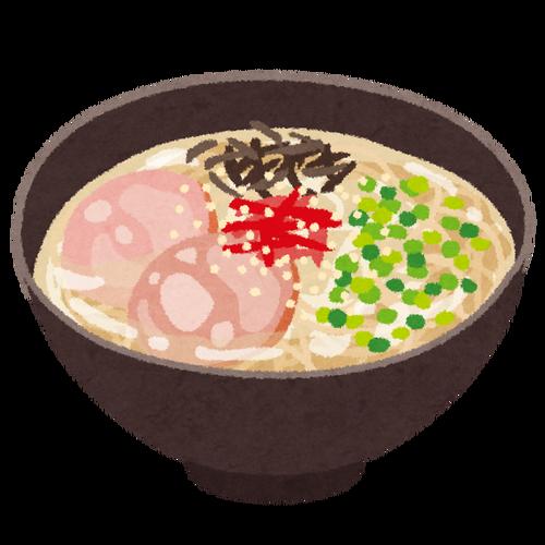 豚骨ラーメンは細麺という風潮