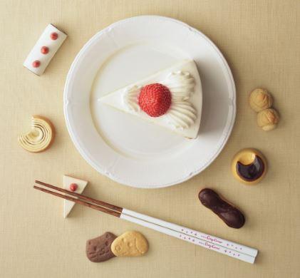 「ケーキをお箸で食べてみよう」 銀座コージーコーナーが呼びかけ 実は意外と食べやすい