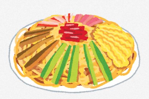 冷やし中華の具でハム錦糸卵きゅうりは確定として他にこれは欲しいという具は?