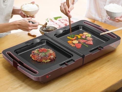 アイリスオーヤマが焼き肉とたこ焼きが同時にできる両面ホットプレートを発売