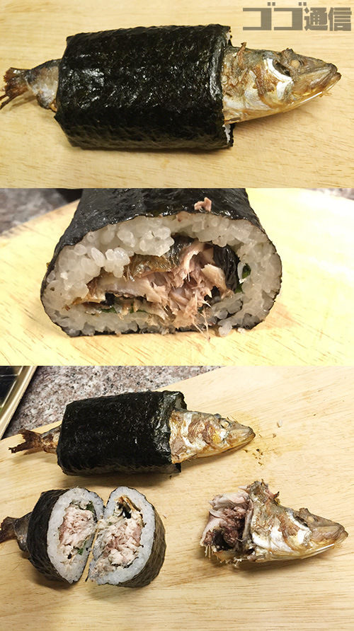 『くら寿司』の仰天恵方巻きを『まるごといわし巻』のインパクトが凄い! 開けたらこっち見てる!