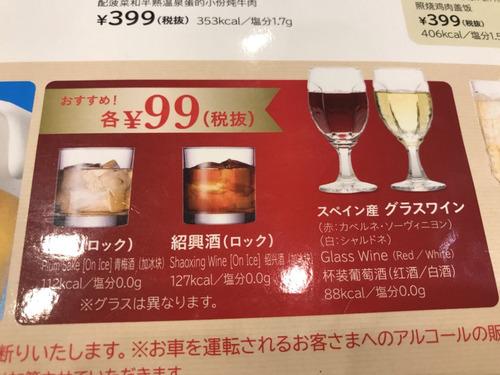 ガストで100円引き定期券を使うと7円で酒が飲める
