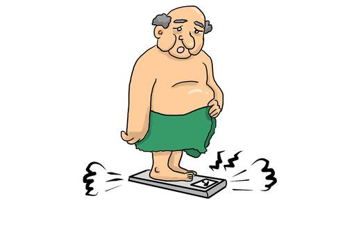 ワイデブ、一日1500kcal前後しか食べて無いのに体重維持される